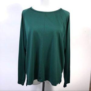 Madewell Songbook Dolman Sleeve Green Top Large